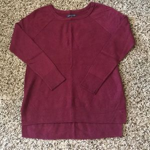 American Eagle Oversized Waffle High-Low Sweater